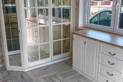 Винтажная стеклянная дверца